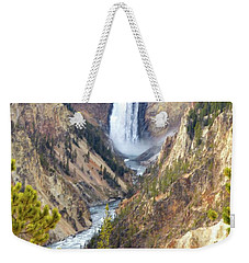 Lower Yellowstone Falls From Artist Point Weekender Tote Bag