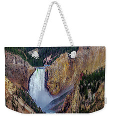 Weekender Tote Bag featuring the photograph Lower Yellowstone Falls II by Bill Gallagher