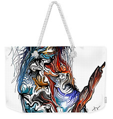 Weekender Tote Bag featuring the digital art Lsd Bird by Darren Cannell