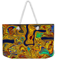 Weekender Tote Bag featuring the painting LSD by Omaste Witkowski