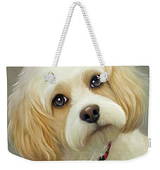 Weekender Tote Bag featuring the painting Lucas Cavachon by Catia Lee