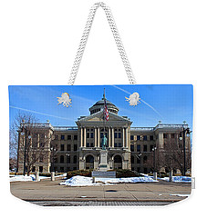 Weekender Tote Bag featuring the photograph Lucas County Courthouse I by Michiale Schneider