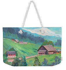 Weekender Tote Bag featuring the painting Lucerne Countryside by Diane McClary