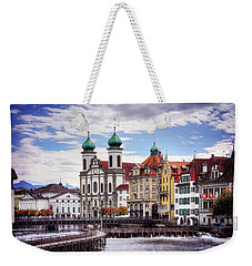 Weekender Tote Bag featuring the photograph Lucerne Switzerland  by Carol Japp
