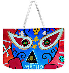 Weekender Tote Bag featuring the painting Luchador by Pristine Cartera Turkus