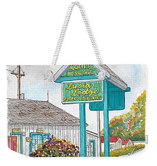 Lucia Lodge In Lucia, California Weekender Tote Bag