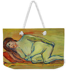 Weekender Tote Bag featuring the painting Lucien Who? by Paul McKey