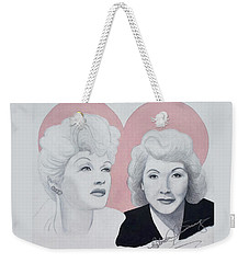 Lucille And Vivian Weekender Tote Bag