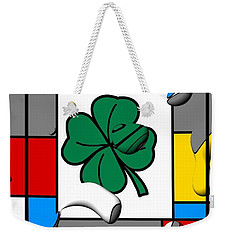 Weekender Tote Bag featuring the digital art Luck By Nico Bielow by Nico Bielow