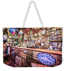 Luckenbach Bar Weekender Tote Bag by Andy Crawford