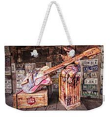 Luckenbach's Guitar-playing Armadillo Weekender Tote Bag