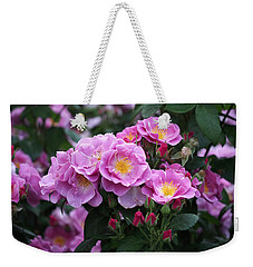 Lucky Floribunda Roses Weekender Tote Bag by Rona Black