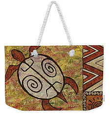 Weekender Tote Bag featuring the painting Lucky Honu by Darice Machel McGuire