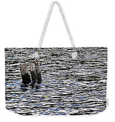 Weekender Tote Bag featuring the photograph Lucky Stump by Angie Rea