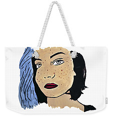 Lucy's Self Portrait Weekender Tote Bag by Lucy Frost