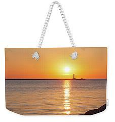 Ludington Sunset Weekender Tote Bag