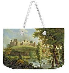 Ludlow Castle With Dinham Weir Weekender Tote Bag by Samuel Scott