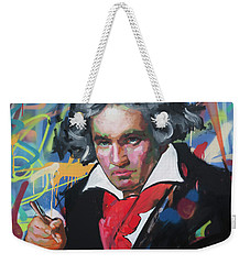 Ludwig Van Beethoven Weekender Tote Bag by Richard Day