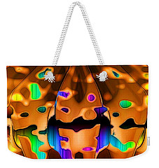 Weekender Tote Bag featuring the digital art Luminence by Ron Bissett