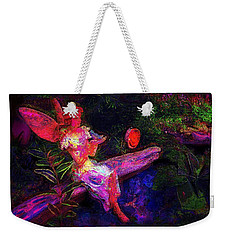Weekender Tote Bag featuring the photograph Luminescent Night Fairy by Lori Seaman
