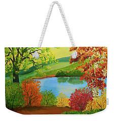 Luminous Colors Of Fall Weekender Tote Bag