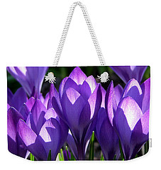 Weekender Tote Bag featuring the photograph Luminous Floral Geometry by Byron Varvarigos