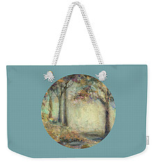 Weekender Tote Bag featuring the painting Luminous Landscape by Mary Wolf