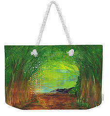 Luminous Path Weekender Tote Bag