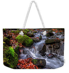 Weekender Tote Bag featuring the photograph Lumsdale Falls 4.0 by Yhun Suarez