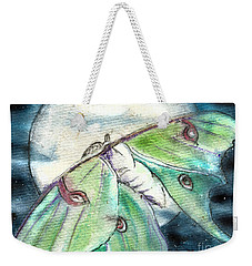 Luna Moth Full Moon Weekender Tote Bag