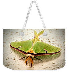 Weekender Tote Bag featuring the photograph Luna Moth by Vincent Autenrieb