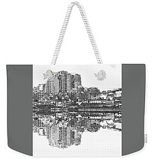 Weekender Tote Bag featuring the photograph Luna Park Pencil Ink By Kaye Menner by Kaye Menner