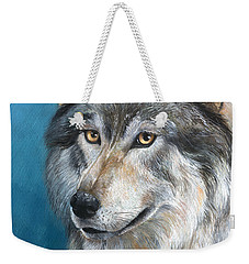 Weekender Tote Bag featuring the painting Luna by Sherry Shipley