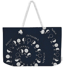Lunar Calendar 2018 / Northern Hemisphere Weekender Tote Bag