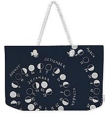 Lunar Calendar 2018 / Northern Hemisphere Weekender Tote Bag
