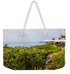 Weekender Tote Bag featuring the photograph Lunch At Geoffrey's Of Malibu by Glenn McCarthy Art and Photography