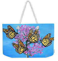 Butterfly Feeding Frenzy Weekender Tote Bag