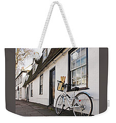 Weekender Tote Bag featuring the photograph Lunch French Style By Bicycle In Cambridge by Gill Billington