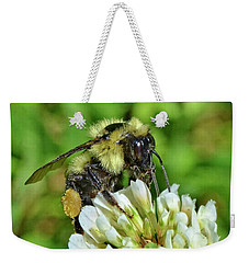 Weekender Tote Bag featuring the photograph Lunch In The Garden by Ludwig Keck