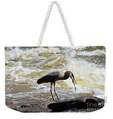 Lunch In The James River 11 Weekender Tote Bag