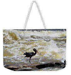 Lunch In The James River 8 Weekender Tote Bag