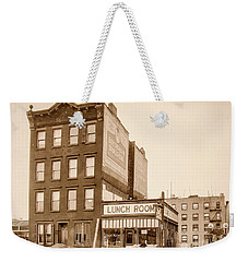 Weekender Tote Bag featuring the photograph Lunchroom  by Cole Thompson