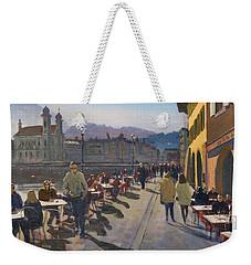 Lunchtime In Luzern Weekender Tote Bag