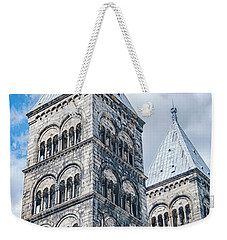 Weekender Tote Bag featuring the photograph Lund Cathedral In Sweden by Antony McAulay
