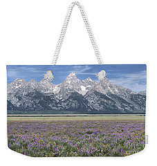 Lupine And Grand Tetons Weekender Tote Bag