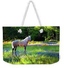 Weekender Tote Bag featuring the photograph Lupine Delight by Melinda Hughes-Berland