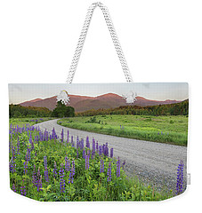 Lupine Sunset Road Weekender Tote Bag