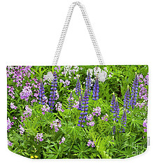 Weekender Tote Bag featuring the photograph Lupines And Dames Rocket by Alan L Graham