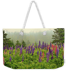 Lupins In The Mist Weekender Tote Bag