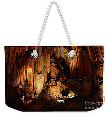 Weekender Tote Bag featuring the photograph Luray Dark Caverns by Paul Ward